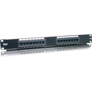 """TRENDnet TC-P16C6 16 Port(s) Netwerkdraadverbindingspaneel - 16 x RJ-45 - 16 x RJ-11 - 19"""" breed"""
