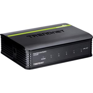TRENDnet TE100-S5 5 poorten Ethernetswitch - 5 x Fast Ethernet Netwerk - 2 Layer Supported - 5 Jaar Limited Warranty