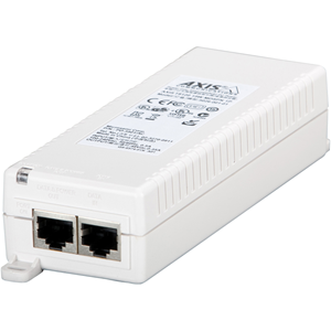 AXIS T8120 PoE-injector - 110 V AC, 220 V AC Ingang - 48 V DC Uitgang - 1 10/100/1000Base-T Output Port(s) - 15 W