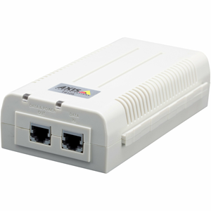 AXIS T8125 PoE-injector - 55 V DC Uitgang - 1 10/100/1000Base-T Input Port(s) - 1 10/100/1000Base-T Output Port(s)