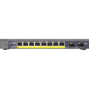 Netgear ProSafe GS110TP 8 poorten Beheer mogelijk Ethernetswitch - 2 Layer Supported - Bureaublad, Op muur monteerbaar - Levenslang Limited Warranty