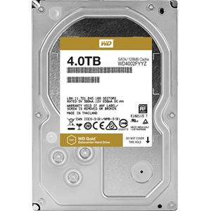 "WD Gold WD4002FYYZ 4 TB 3.5"" Intern Harde schijf - SATA - 7200rpm - 128 MB buffer"