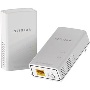 Netgear PL1000 Powerline netwerkadapter - 2 - 1 x Netwerk (RJ-45) - 1000 Mbit/s Powerline - 500 m² Dekking - HomePlug AV2 - Gigabit Ethernet