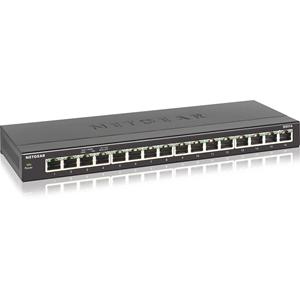 Netgear 16 poorten Ethernetswitch - 16 Netwerk - Twisted-pair - 2 Layer Supported - Bureaublad