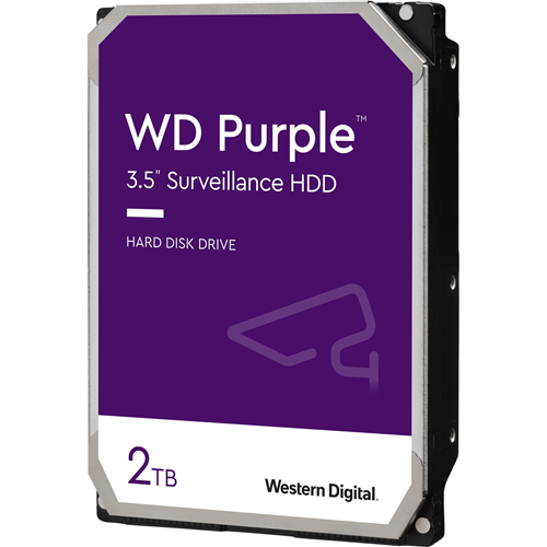 "WD Purple WD20PURZ 2 TB 3.5"" Intern Harde schijf - SATA - 5400rpm - 64 MB buffer"