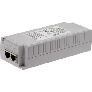 AXIS T8134 PoE-injector - 110 V AC, 230 V AC Ingang - 55 V DC Uitgang - 10/100/1000Base-T Input Port(s) - 10/100/1000Base-T Output Port(s) - 60 W - Monteerbaar aan muur/schap/DIN rail