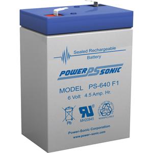 Power-Sonic PS-640 Multifunctioneel Batterij - 4500 mAh - Gesloten lood (SLA) - 6 V DC - Oplaadbare batterij
