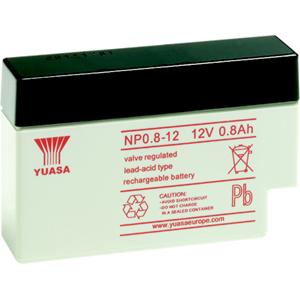 Yuasa NP0.8-12 Multifunctioneel Batterij - 800 mAh - Gesloten lood (SLA) - 12 V DC - Oplaadbare batterij