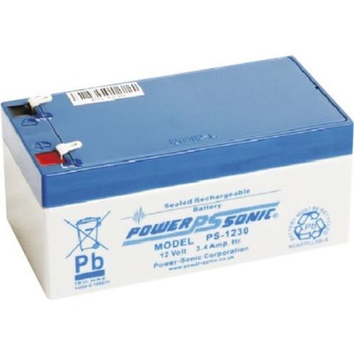 Power-Sonic PS-1230 Multifunctioneel Batterij - 3400 mAh - Gesloten lood (SLA) - 12 V DC - Oplaadbare batterij