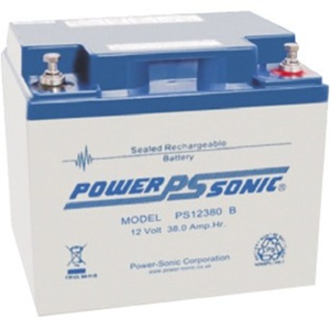 Power-Sonic PS-12380 Beveiligingsapparaat, Medische apparatuur, Brandalarm, Toegangscontrolesysteem, Elektrische apparatuur Batterij - 38000 mAh - Gesloten lood (SLA) - 12 V DC - Oplaadbare batterij