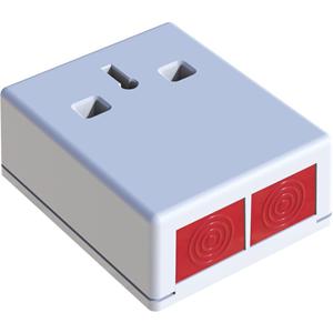CQR DP3 Drukknop - Wit - ABS-plastic