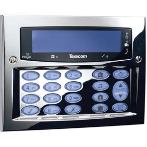 Texecom Premier Elite Beveiligingstoetsenbord - Voor Bedieningspaneel - Polished chrome