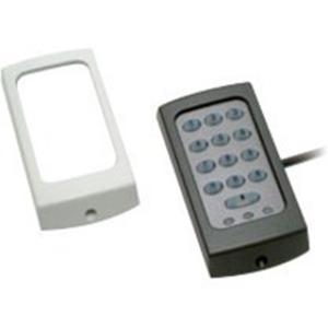 Paxton Access KP75 Kaartlezer/slot met cijfercode - Zwart, Wit - Deur - Proximity - 1 Deur(en) - 300 mm bereik - 12 V DC - Oppervlakbevestiging