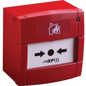 Apollo Handmatig oproeppunt - Rood - Polycarbonaat, ABS-plastic