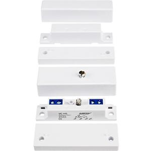 Alarmtech Magnetisch contact - N.C. - voor Window, Deur - Oppervlakbevestiging - Zwart