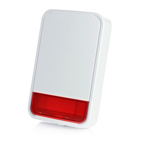 Visonic Sirene/stroboscoop - Wireless - 3.6 V DC - 110 dB(A) - Hoorbaar, Visueel - Oranje