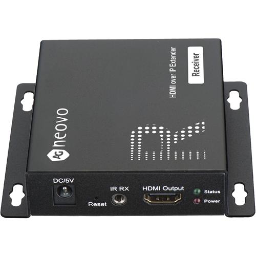 AG Neovo HIP-RA Video extender-ontvanger - Bedraad - 1 Output Device - 120 m bereik - 1 x Netwerk (RJ-45) - 1 x HDMI-uitgang - 1920 x 1080 Video Resolution - Full HD - Twisted-pair - Categorie 6