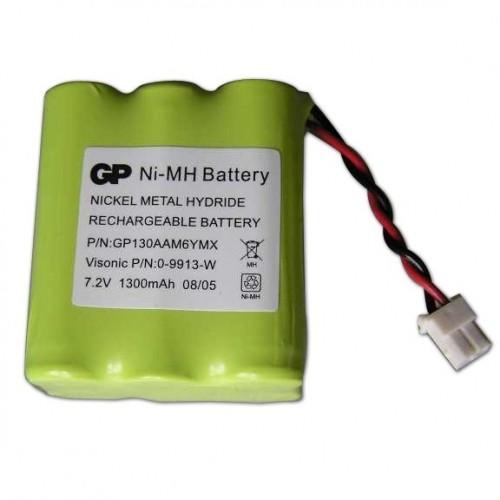 Visonic Batterij - Nikkel-metaalhydride (NiMH) - Voor Alarmpaneel - Oplaadbare batterij - 7.2 V DC - 2000 mAh