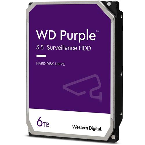"""WD Purple WD62PURZ 6 TB Harde schijf - 3.5"""" Intern - SATA (SATA/600) - Schrijfintensief - Videobewakingssysteem Ondersteunde apparaten - 5640rpm"""