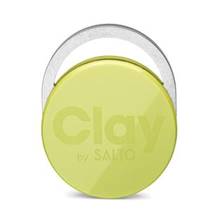 Clay Tag lime groen (per 5)