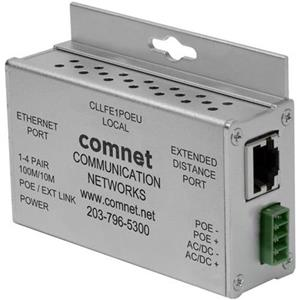 Single Channel Ethernet over UTP met IEEE 802.3at 30W Pass-Through PoE modus of Local PoE Injection Mode