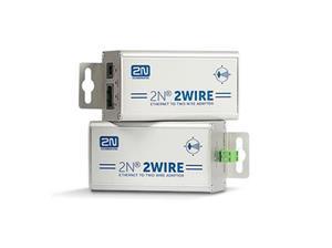 2N Adapter, ethernet naar twee draden - Aluminium
