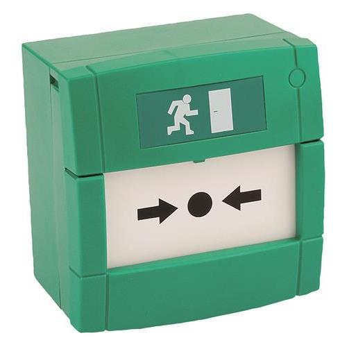 KAC MCP4A-G000SF-13 Handmatig oproeppunt - Groen - Glas, Plastic