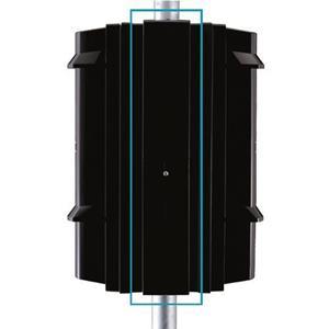 Optex Behuizing voor paalmontage voor SL350QFR/QNR, SL-200QN/350QN/650QN, SL-200QDM/350QDM/650QDM, SL-200QDP/350QDP/650QDP - PSC-4