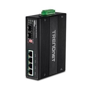 4 x Gigabit Ultra PoE-poorten 2 x speciale SFP-slots 240 watt stroombudget 12 Gbps schakelcapaciteit Geharde metalen IP30-schakelaar Inclu