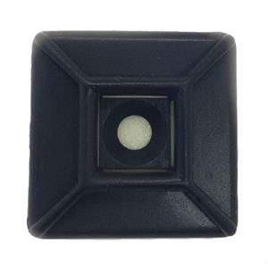 ADHESIVE MOUNT 28 x 28mm Black 100 pack