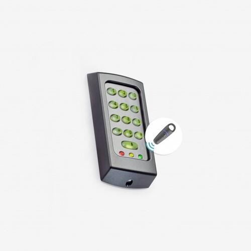 Paxton Access KP50 Kaartlezer/slot met cijfercode - Zwart, Wit - Deur - Proximity - 1 Deur(en) - 12 V DC - Oppervlakbevestiging