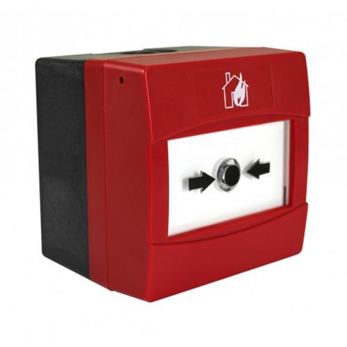 CAST, handmelder adresseerbaar, rood, IP67, oppervlakte montage