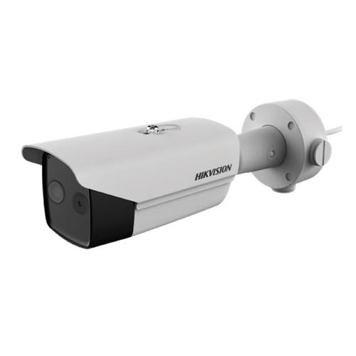 Hikvision Thermal Thermal IP Bullet thermische bi-spectrum camera Voor buitengebruik Resolutie Thermisch: 160x120 Opticisch: 2MP Lens Thermisch: 3mm (50°) Optisch: 4mm
