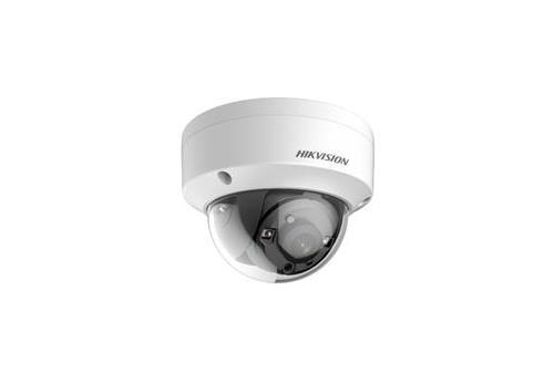 Hikvision Turbo HD HDoC Dome camera Voor buitengebruik en vandaalbestendig Resolutie: 2MP Lens: 2.8mm