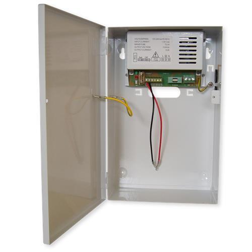 W-Box geschakelde voeding 12Vdc/5A in metalen kast
