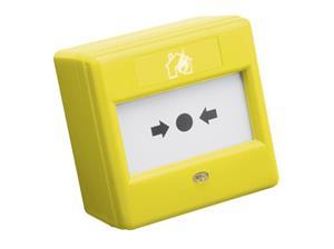 Conventionele branddrukknop- geel - wisselcontact