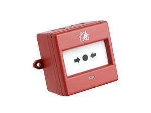 Fulleon Handmatig oproeppunt Voor Outdoor, Brandalarm, Indoor - Rood - ABS-plastic, Glas