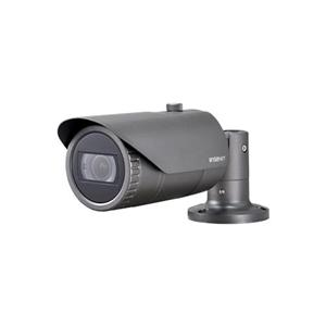Hanwha Wisenet IP Bullet camera Voor buitengebruik en vandaalbestendig Resolutie: 5MP Lens: 3.2-10mm MZF